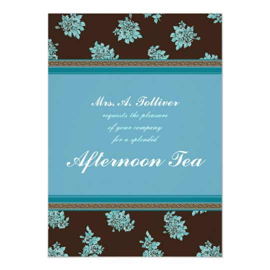 Afternoon Tea Modern Chintz Invitation