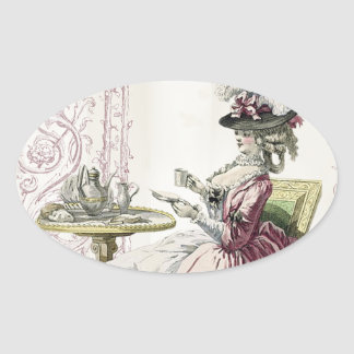 Afternoon Tea! Oval Sticker