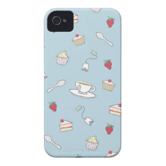 'Afternoon Tea' Pattern iPhone 4 Case-Mate Case
