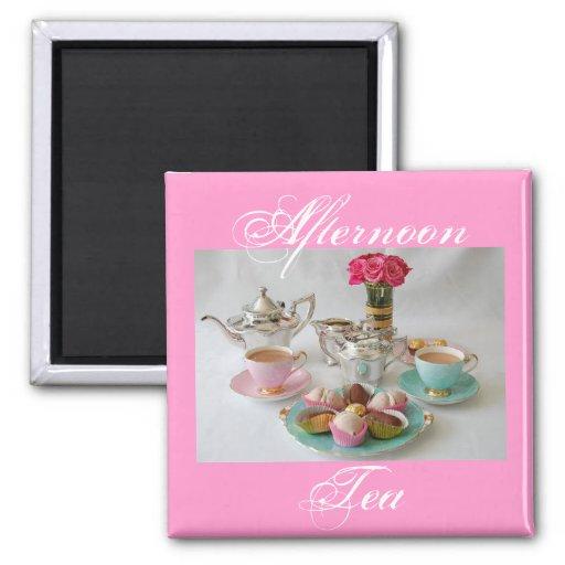 Afternoon Tea Square Fridge Magnet
