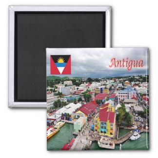 AG - Antigua and Barbuda - Antigua Square Magnet