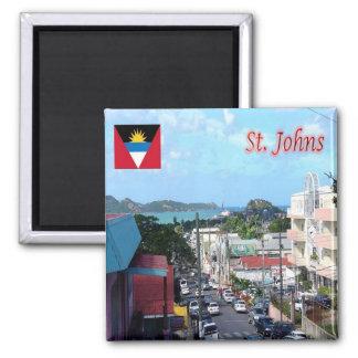 AG - Antigua and Barbuda - Saint Johns Street Square Magnet