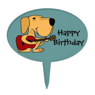 AG- Labrador Playing Guitar Birthday Cake Pick