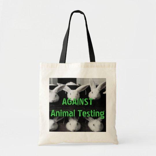 Against Animal Testing Mini Tote Bag