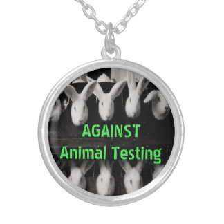 Against Animal Testing Pendant Necklace