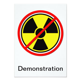 Against Atomic Power! 13 Cm X 18 Cm Invitation Card