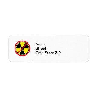 Against Atomic Power! Return Address Label