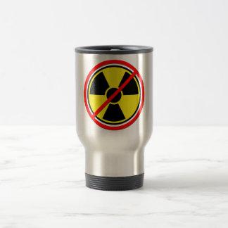 Against Atomic Power! Stainless Steel Travel Mug