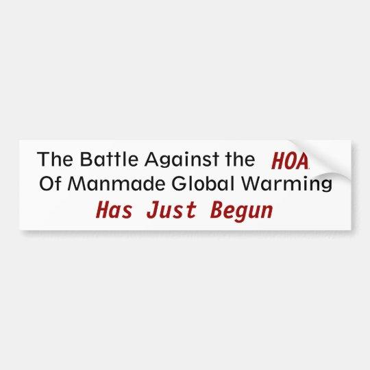 Against Manmade Gobal Warming - Customised Bumper Sticker