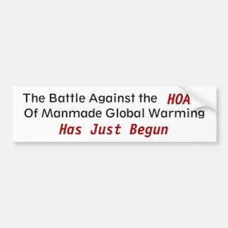 Against Manmade Gobal Warming - Customized Bumper Sticker