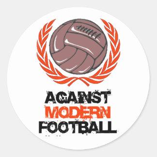Against Modern Football Round Sticker