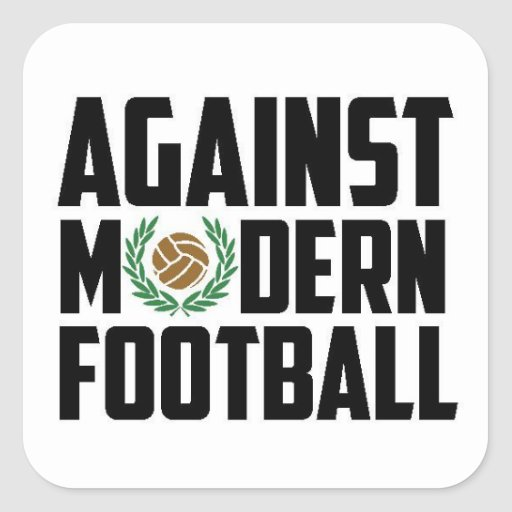 Against Modern Football. Square Stickers