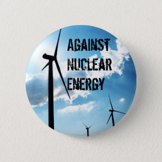 Against Nuclear Energy 6 Cm Round Badge
