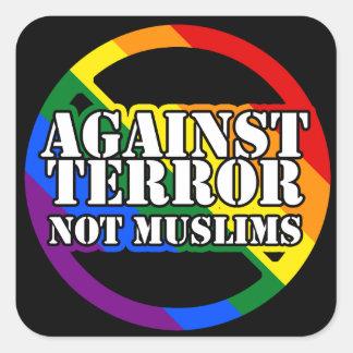 Against Terror, Not Muslims Rainbow Stickers