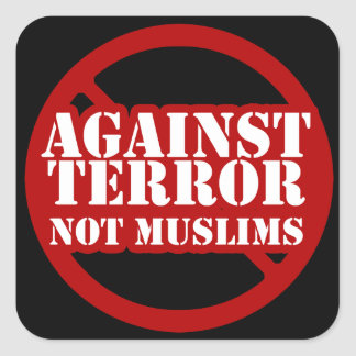 Against Terror, Not Muslims Stickers