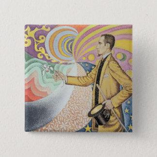 Against the Enamel of a Background Rhythmic 15 Cm Square Badge