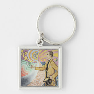 Against the Enamel of a Background Rhythmic Key Ring