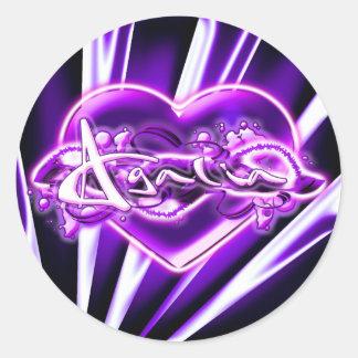 Agalia Round Sticker