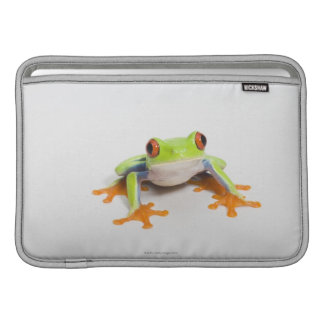 Agalychnis callidryas on white background sleeve for MacBook air