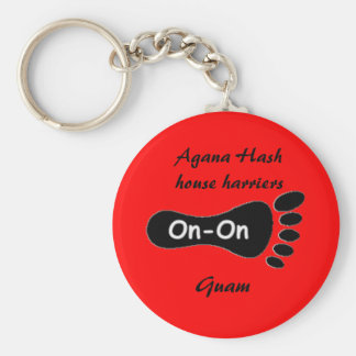 Agana Hash house harriers, Guam Basic Round Button Key Ring