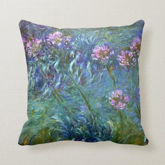 Agapanthus Claude Monet Fine Art Cushion