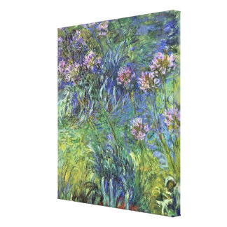 Agapanthus Flowers by Claude Monet Stretched Canvas Print