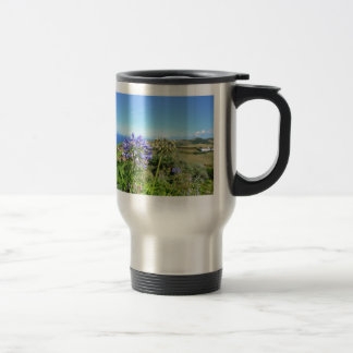 Agapanthus in the Azores Travel Mug