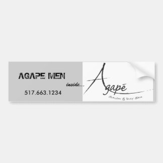 Agape logo black[1], AGAPE MEN - Customized Bumper Sticker
