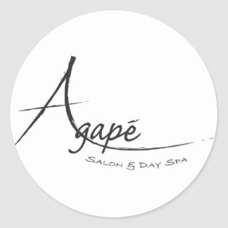 Agape Salon and day Spa Classic Round Sticker