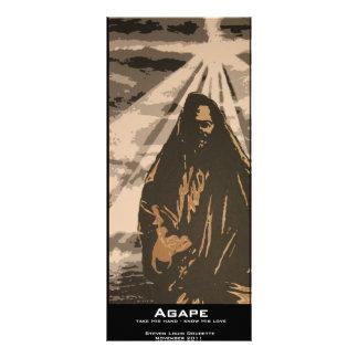 """""""Agape"""" Value Bookmark 10 Cm X 23 Cm Rack Card"""