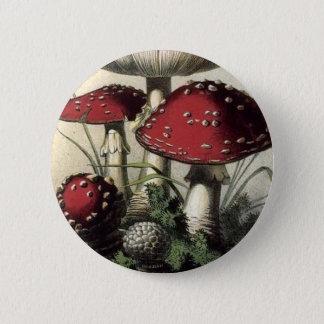 Agaricus Muscarius Mushroom 6 Cm Round Badge