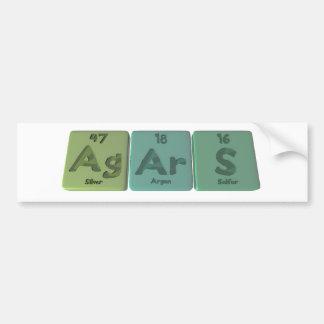 Agars-Ag-Ar-S-Silver-Argon-Sulfur Bumper Sticker