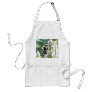 Agastache Flowers With Bumblebee Aprons