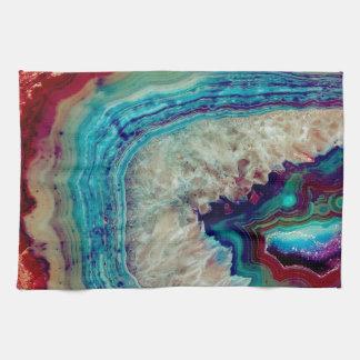 Agate multicolor tea towel