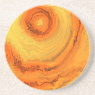 AGATE ORANGE & GOLD COASTER