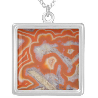 Agate sample silver plated necklace