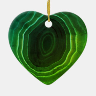 Agate slice green heart Christmas tree decoration. Christmas Ornament