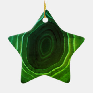 Agate slice green star Christmas tree decoration. Ceramic Star Decoration