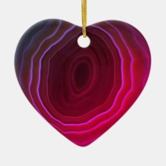 Agate slice pink heart Christmas tree decoration. Christmas Ornament