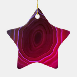 Agate slice pink star Christmas tree decoration. Ceramic Star Decoration