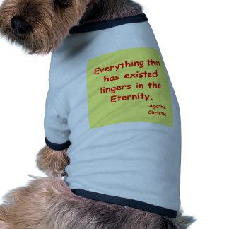 agatha christie eternity doggie tshirt