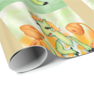 "AGATHE  ALIEN 30"" x 6'   CARTOON Wrapping Paper"