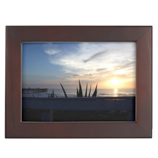 Agave Cactus Ocean Sunrise Keepsake Box