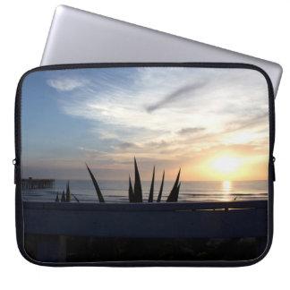 Agave Cactus Ocean Sunrise Laptop Sleeve