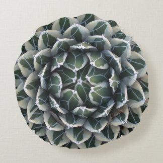 """Agave round throw pillow, cotton (16"""") round cushion"""