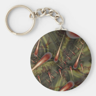 Agave Seam Basic Round Button Key Ring