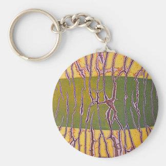 Agavia Natur Basic Round Button Key Ring