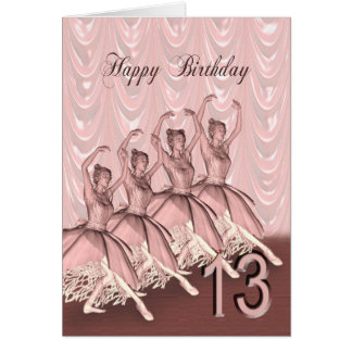 Age 13, a ballerina birthday card