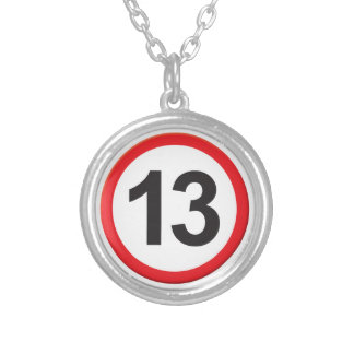 Age 13 round pendant necklace