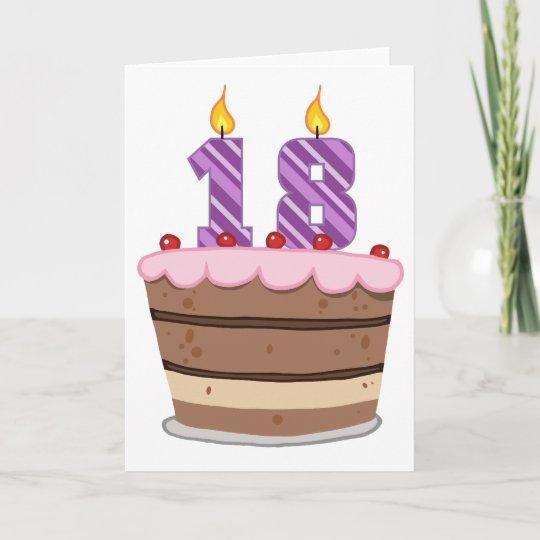 Brilliant Age 18 On Birthday Cake Card Zazzle Co Uk Funny Birthday Cards Online Unhofree Goldxyz